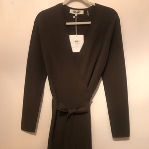 Diane Von Furstenburg NWT Olive Wrap Dress